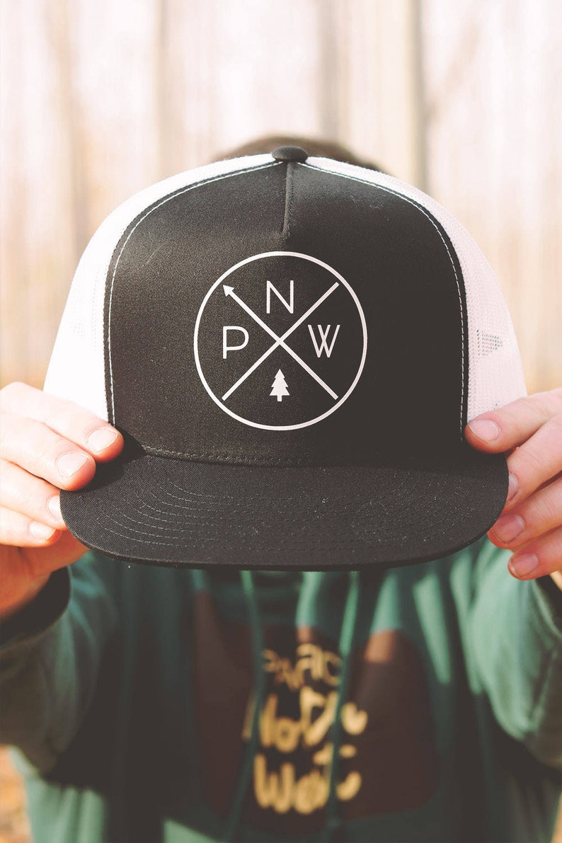 6491decf The Original PNW Pride - Five Panel Mesh Snap Back Trucker Hat (One Size  Fits Most) - Rep the Pacific Northwest everywhere you adventure