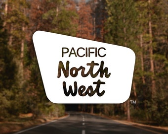 PNW Boundary Line Decal - For Car Windows, Water Bottles, Laptops, Almost Anywhere