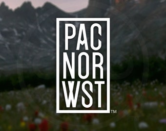 """PNW """"Shorthand"""" Decal - For Car Windows, Water Bottles, Laptops, Almost Anywhere - A modern twist on Northwest aesthetics"""