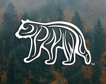 Spirit of the PNW - Black Bear - Decal - For Car Windows, Water Bottles, Laptops, Almost Anywhere