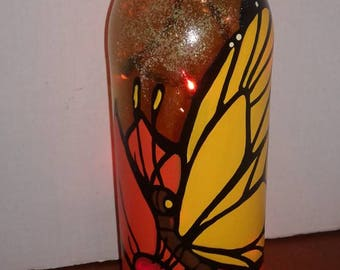 BUTTERFLY lighted bottle