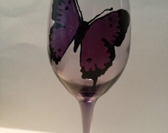 wineglass, butterly
