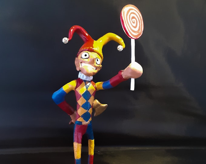 Jolly Candy Clown With Axe