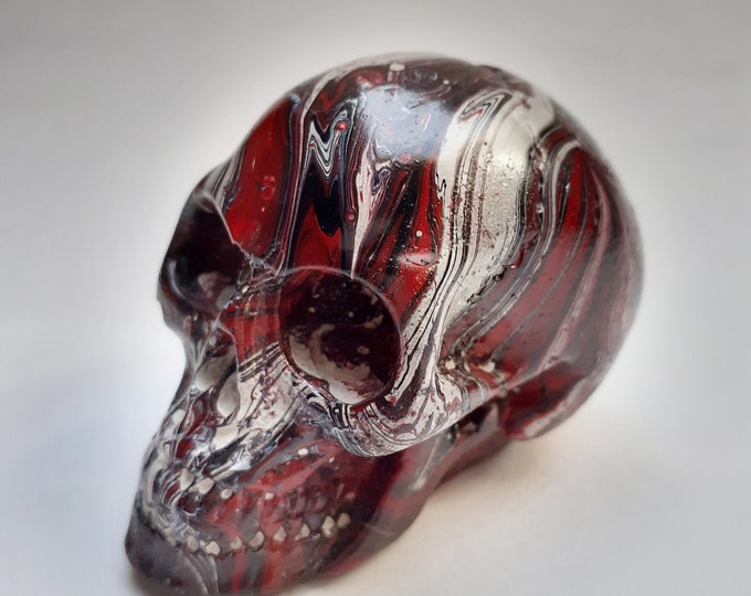 Marbled Stone Skull Incense Burner