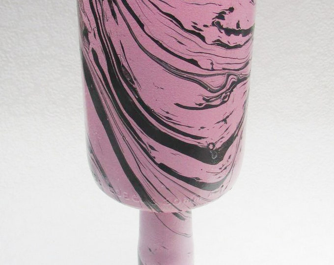Dramatic Pink and Black Goblet