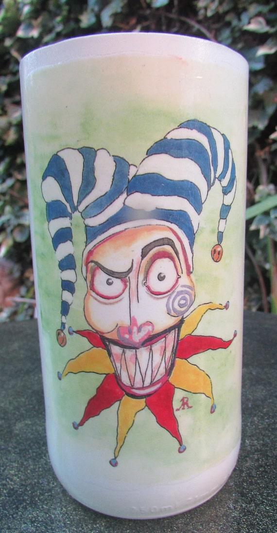 Evil Clown Glass