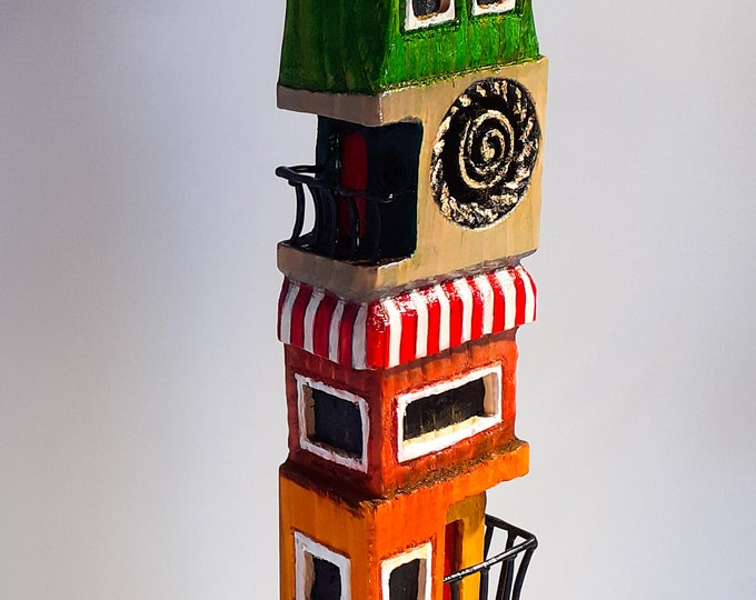 Carved Wood Tower House