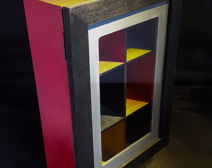 Hobo Chic Painted Tea Caddy or Cupboard
