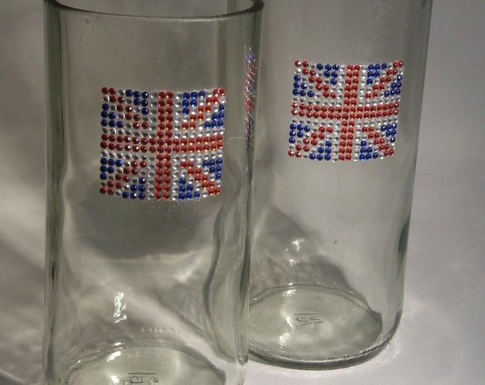 British Flag Handmade Glasses