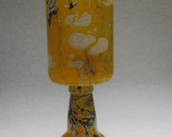 Lemon and Cream Upcycled Goblet