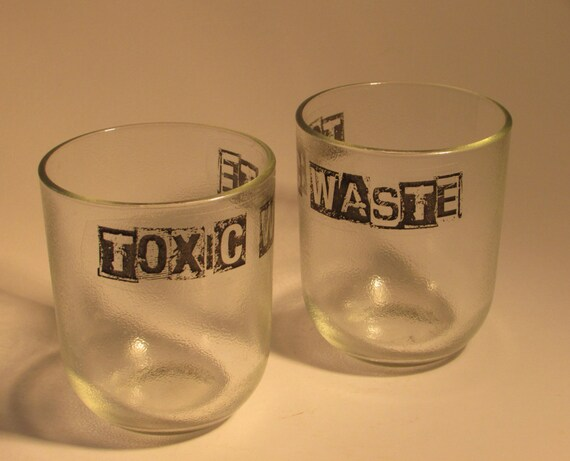 TOXIC WASTE Juice glasses (pair)