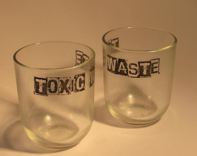 TOXIC WASTE Juice glasses (pair)