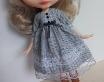 Cute mori lolita dress fr pullip, blythe factory body, azone, momoko, obitsu and similar sizes dolls