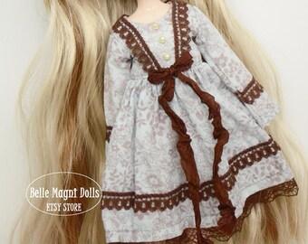 Sweet lolita brown ver. dress for pullip blythe azone momoko obitsu and similar dolls