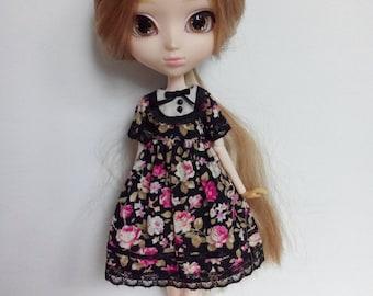The Secret Garden  - Black Roses - black ver. - dress for pullip blythe azone momoko obitsu and similar dolls