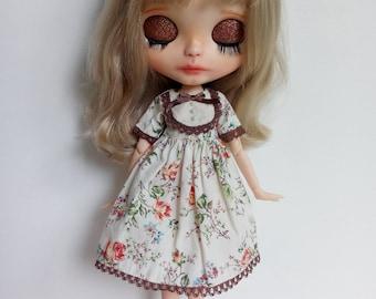The Secret Garden Serie Orange Roses dress for pullip factory blythe azone momoko obitsu and similar dolls