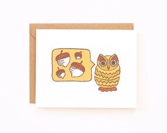 Fall Owl Greeting Card