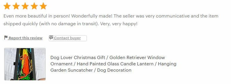 Hand Painted Glass Candle Lantern Golden Retriever Window Ornament Dog Lover Gift Hanging Garden Suncatcher Dog Tealight Decoration