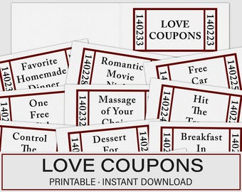 valentines day gift for him editable love coupon love coupon etsy