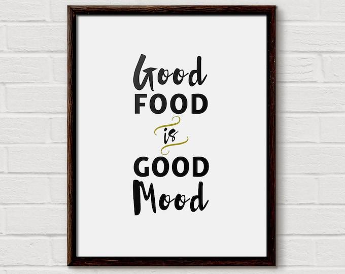 Foodie Gift, Foodie Gift ideas, Food Quote, Food Print, Food Lover Gift, Foodies Gift, Kitchen Prints, Kitchen Quote, Kitchen, Quote Print
