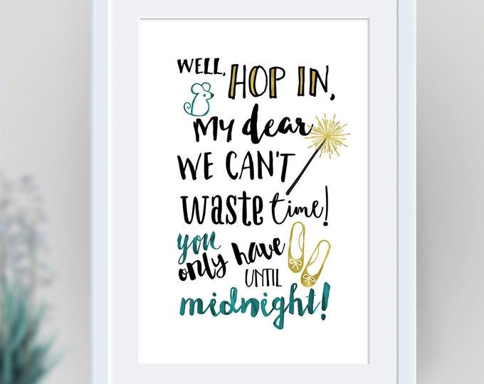 Cinderella wall art, Disney, Cinderella printables, Cinderella poster, Cinderella decor, Cinderella quotes , Cinderella Nursery Art