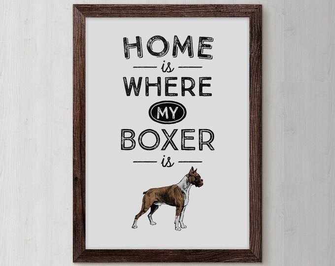 Boxer Dog Art, Boxer Dog Gifts, Boxer Dog, German Boxer, Boxer Dog Print, Boxer Owner, Boxer Wall Art, Dog Owner Gift, Boxer illustration,
