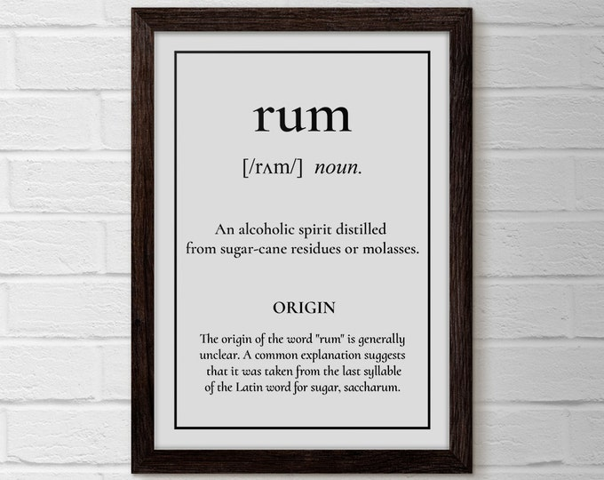 Writer Poster, Rum, Recipe Print, Rum Poster, Cuban Poster, Rum Poster, Bar Cart Print, Rum Christmas, Pirate Posters, Rum Quotes, Print