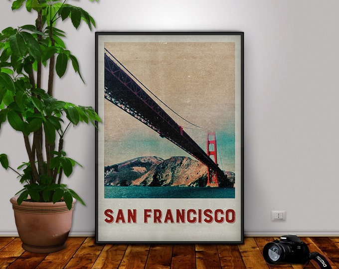 San Francisco Print, San Francisco, Golden Gate, Golden Gate Print, San Francisco Poster, City Print, Travel Print, San Francisco Decor