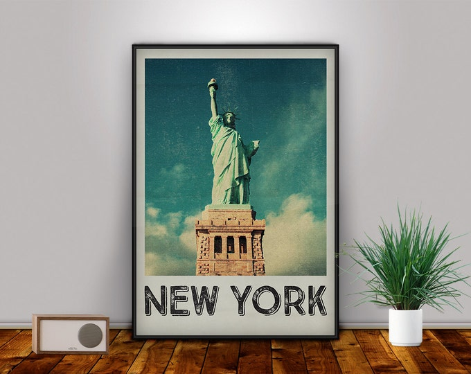 Statue of Liberty, New York City, NYC, New York Poster, New York Print, Big Apple, Manhattan Skyline, New York Photography, Liberty Island