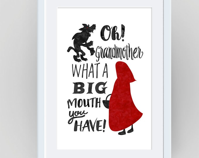 red riding hood, little red, fairy tale, red cape, little red riding hood, big bad wolf, fairytale, riding hood, fantasy, nursery decor