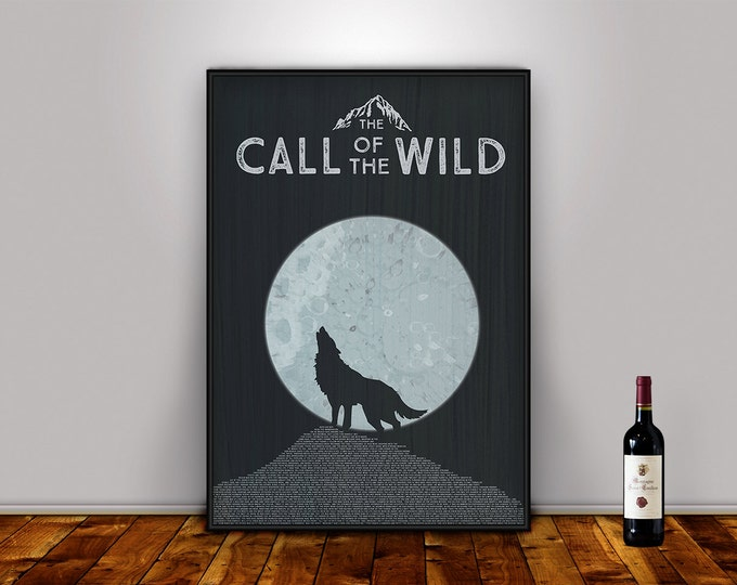 Call of the Wild, Literary Poster, Jack London, Printable Poster, Jack London, Literary Gift, literary art print