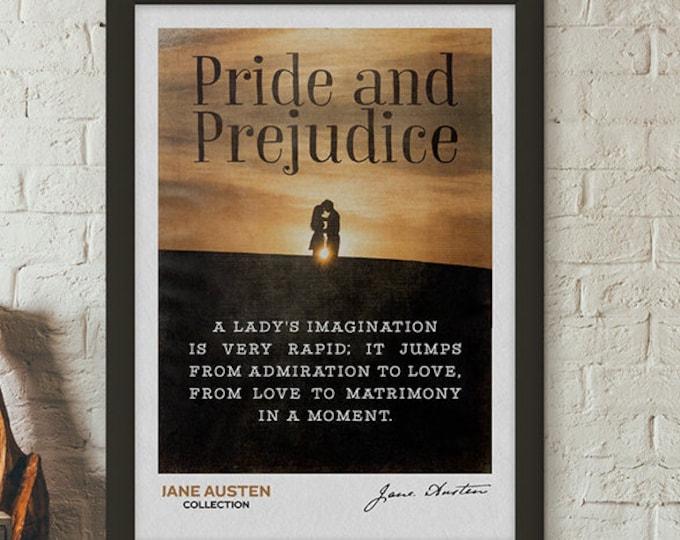 Pride and Prejudice Quotes, Mr Darcy, Jane Austen Gifts, Pride and Prejudice, Jane Austen Books, Jane Austen Print, Elizabeth Bennet,