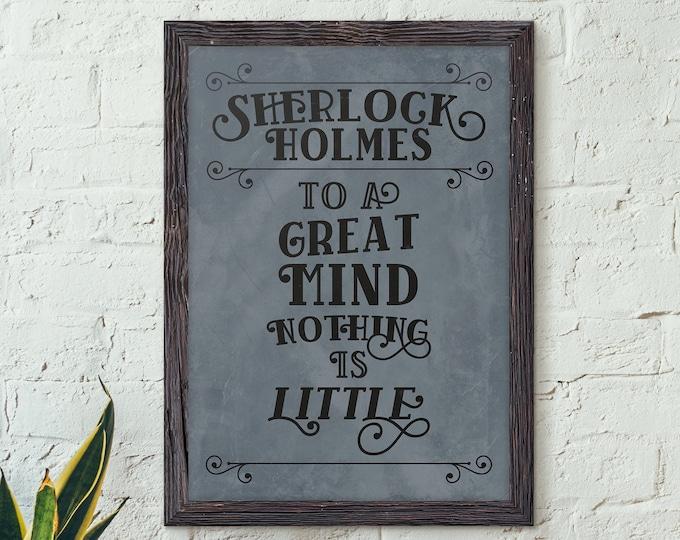 Sherlock Holmes, Literature poster, Sherlock Quotes, Sherlock Gifts, Literature Decor, Book Decor, Detective Printable, Art Print - No. 3 -