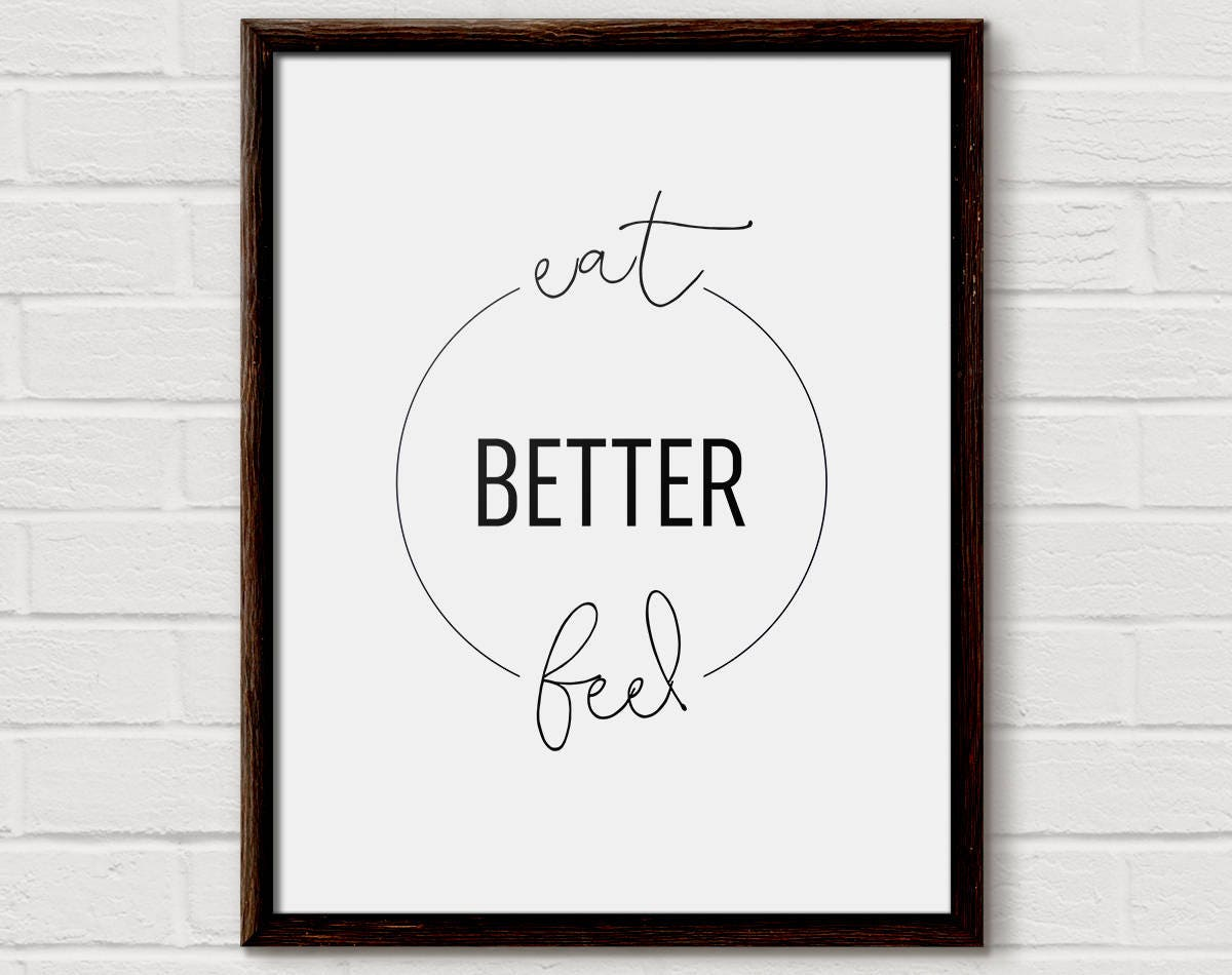 Food Quote, Food Quotes, Healthy Quote, Kitchen Typography ...