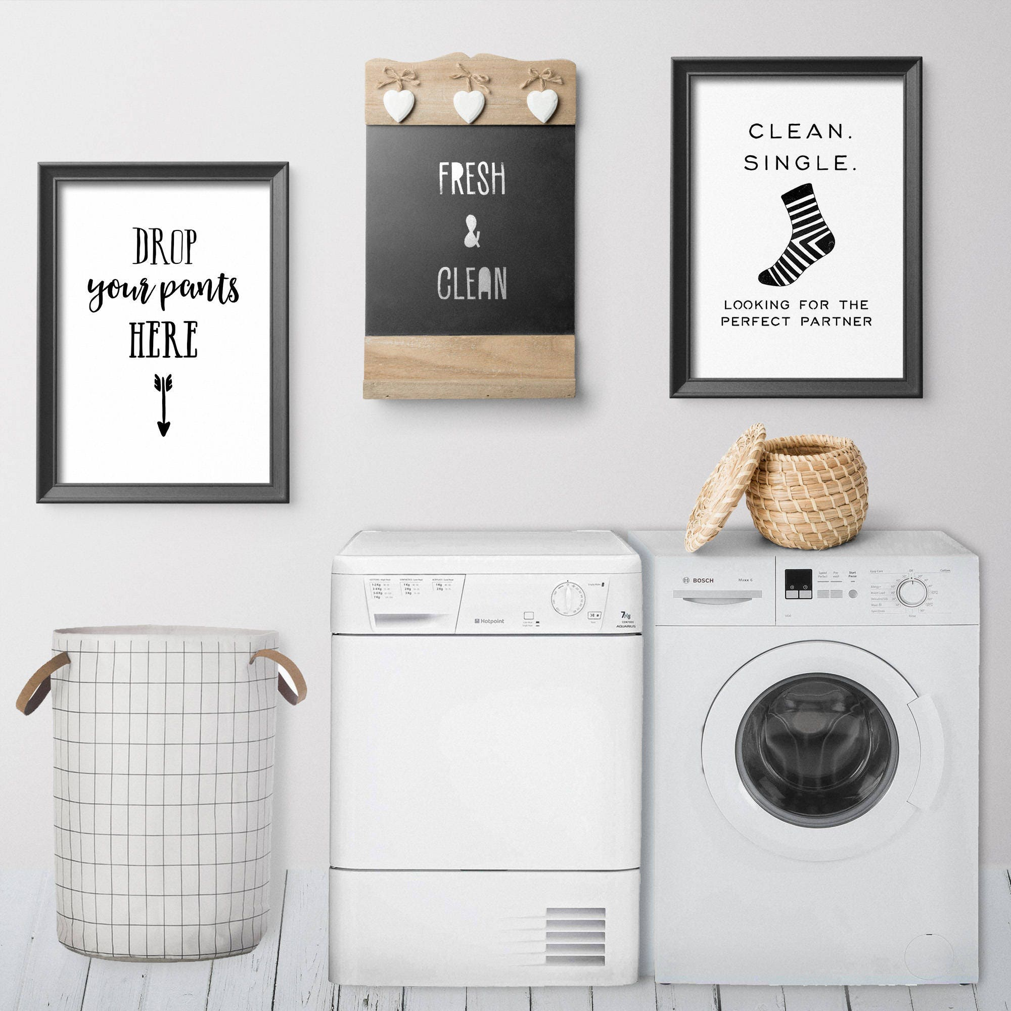 Laundry Room Decor Funny Laundry Decor Laundry Print Drop