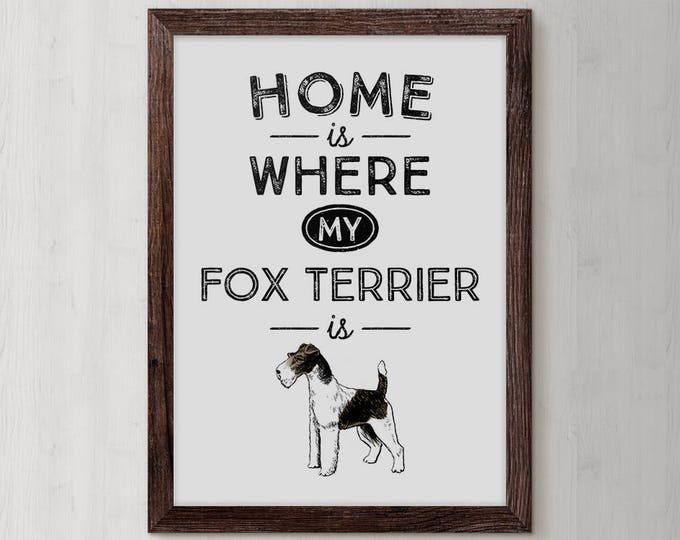 Fox Terrier, Terrier, Fox, Terrier Art Print, Terrier Gift, Wire Fox Terrier, Terrier Painting, Dog Lovers Birthday, Gifts For Dog Lovers