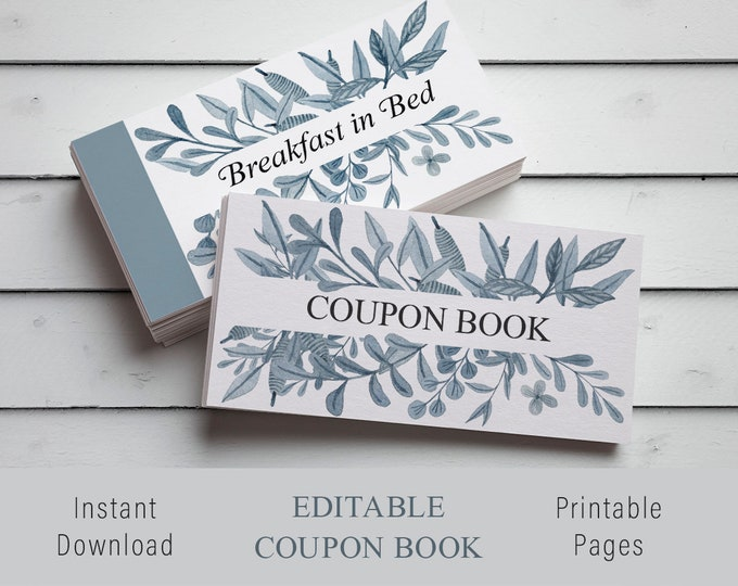 Printable Love Coupons, Love Coupon Book, Printable Coupon Book, Coupon Book for Him, DIY valentines gift, DIY Christmas Gift, DIY Gift
