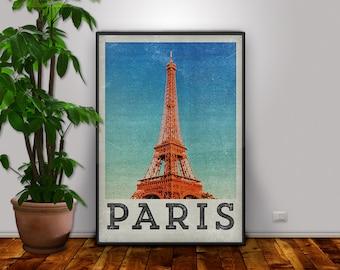 Paris Posters Prints, France City, paris art prints, Retro Poster, Retro Paris Print, Paris Wall Art, Paris Home, Paris Poster Print, Eiffel