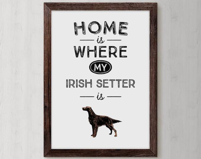 Irish Setter, Dog, Watercolor, Gog Art, puppy, pooch, dog watercolors, Irish Setter dog, Red Dog, Custom Dog Portrait, Irish Setter Gift