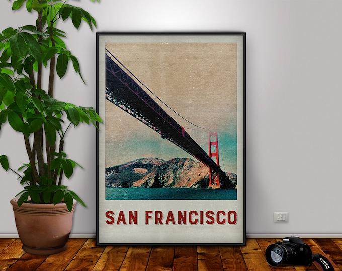 San Francisco Print, San Francisco, Golden Gate, Golden Gate Print, San Francisco Poster, City Print, Travel Print, San Francisco Decor