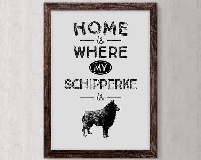 Schipperke, Schipperke Art, Gift, Dog Art, Dogs, Pet, Schipperke Gift, Canine, Schipperke Dog, Dog Lover Gift, Pet Lover, Schipperke Gifts
