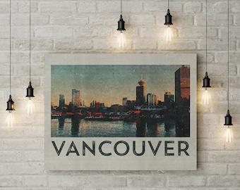 Vancouver Print, Vintage Travel Poster, Vancouver Poster, Vancouver Art, Vancouver Travel Poster, Canada Travel Poster, Travel Art Print