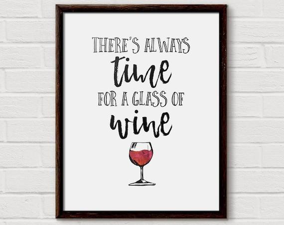 Wine Quotes Wine Quote Wine Gift Wine Quotes Wine Poster Teacher Wine | Etsy Wine Quotes