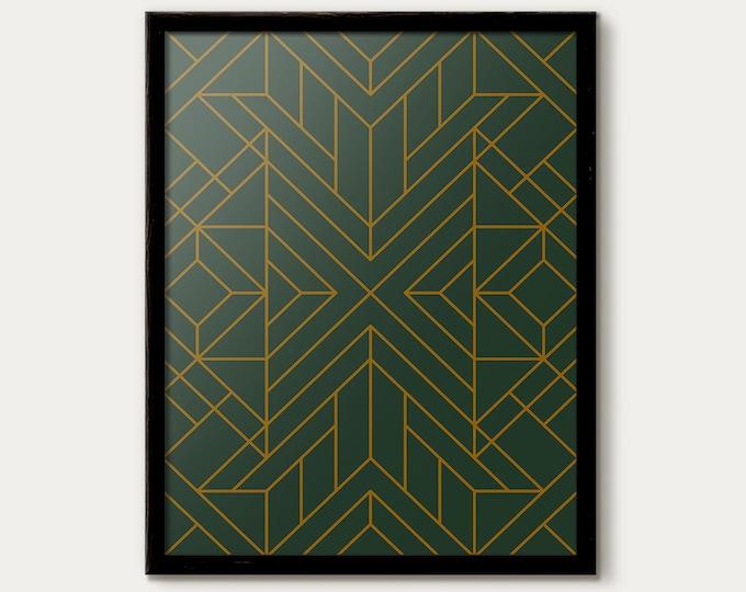 Art Deco Print, Art Deco Poster, Art Deco Decor, Art Deco Pattern Print, Minimalist Wall Art, Deco Art, Modern Office, Wall Gallery Print