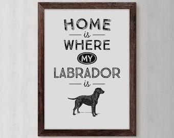 Black Labrador, Black Lab, Labrador, Labrador Retriever, Black Lab Art Print, Retriever Gifts,  I Love Labradors, Labrador Poster, DP40