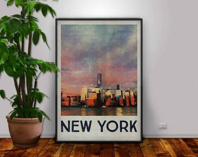 Manhattan Poster, New York Print, Manhattan, New York, Manhattan Art, New York Decor, Travel Art, New York Art, New York Printable, Wall Art