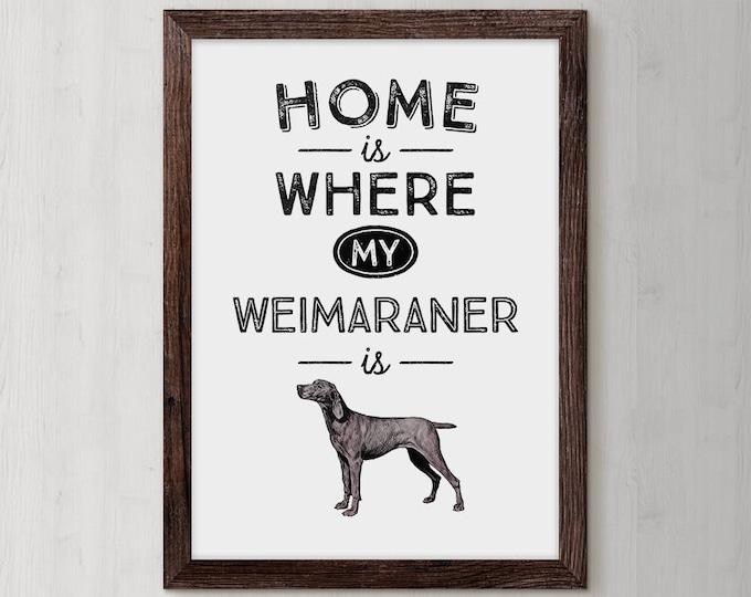 Weimaraner, Weimaraner Art, Dog Wall Decor, Dogs, Pet Gift For Him, Dog Poster Print, Dog Mom, Dog Breed, Custom Dog Gift, Dog Grandma, Pup