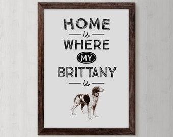 Brittany Spaniel, Dog Mom, Brittany Spaniel Art, Brittany Spaniel Dog, dog gift, dog, dog lover gift, personalized dog, dog lover, pet gift