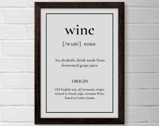 Wine Print, Wine Poster, Wine Art, Kitchen Decor, Kitchen Art, Kitchen Poster, Wine Decor, Wine Lover Gift, Wine Wall Art, Bar Cart Art