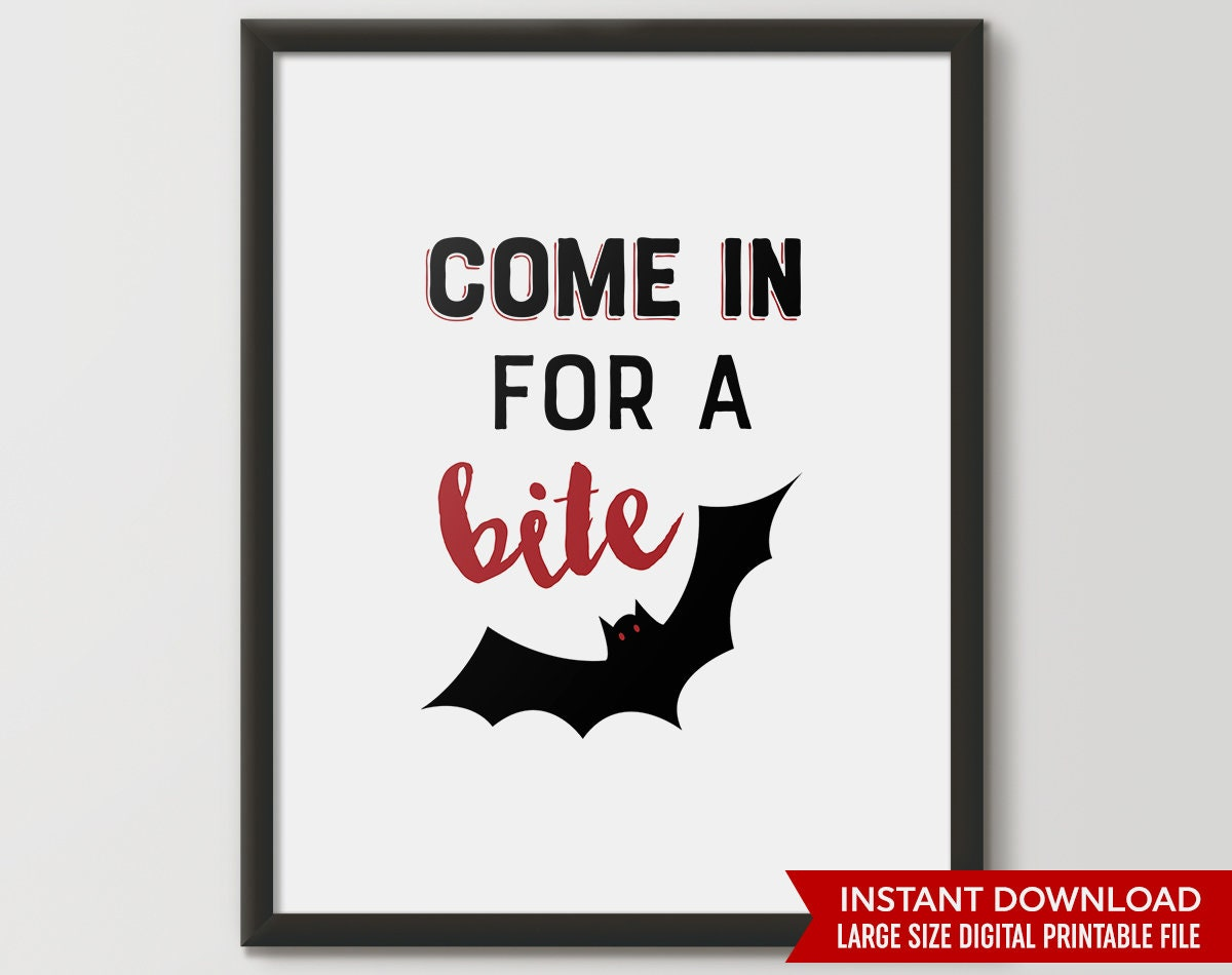photo about Halloween Signs Printable named Halloween bat, Halloween decor, Halloween decoration